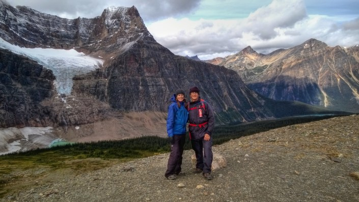 My dad and I at the top of Lookout #3 and the highest point of the hike.