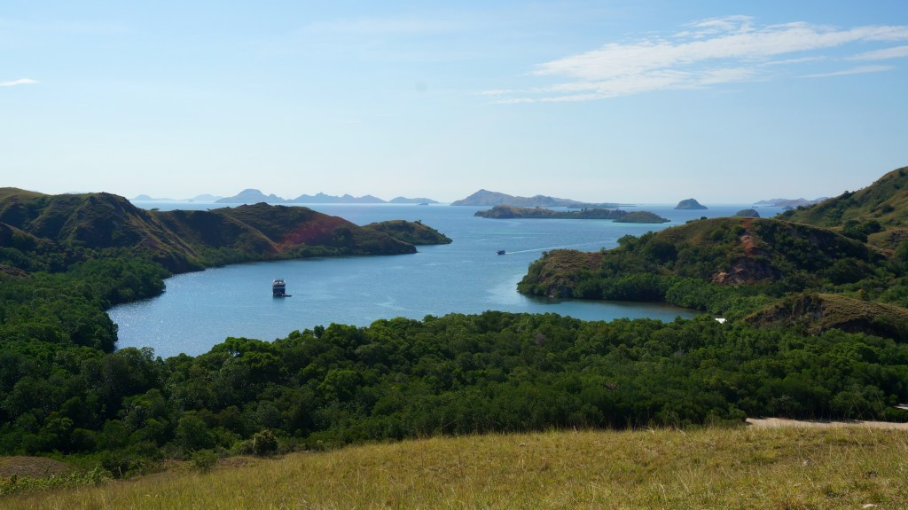 In the heart of Komodo National Park. View from the top of Rinca Island.