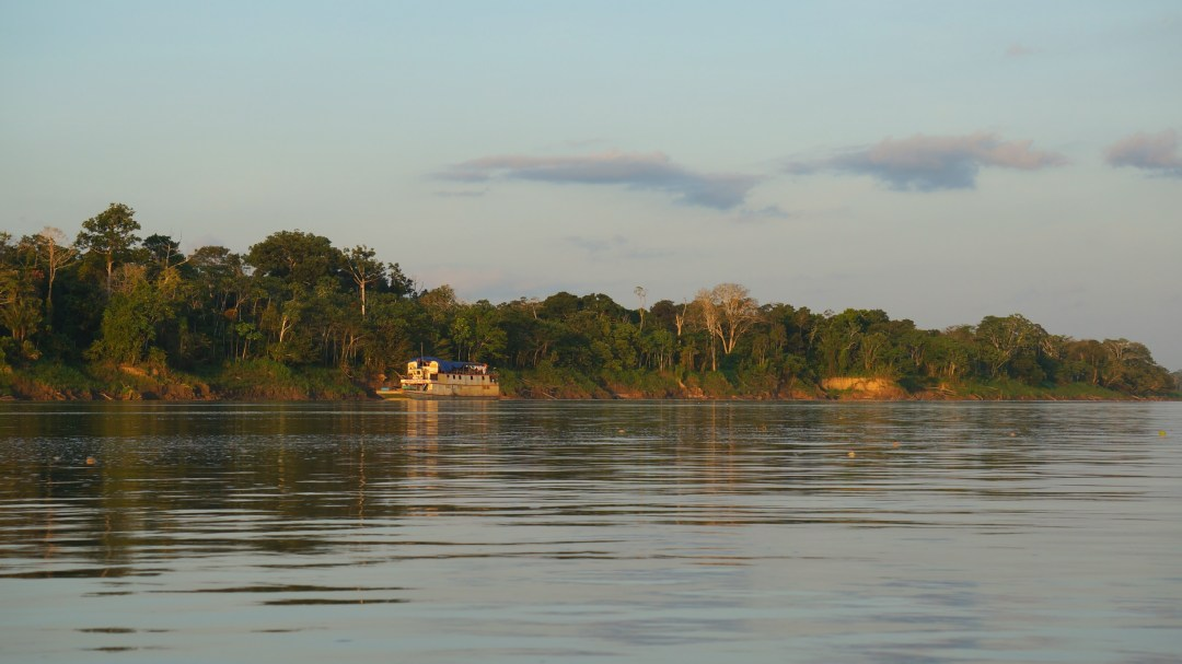 A ferry on the Amazon River