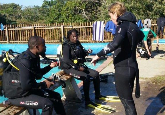 Slie and Langa ready to roll back into the water!