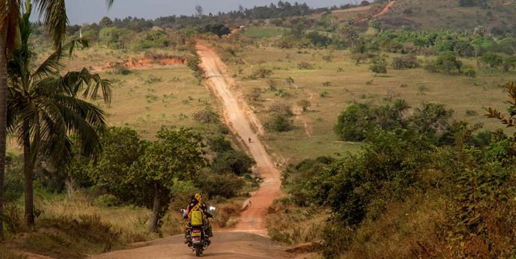 Motorcycle Touring in Africa - Nature-Road