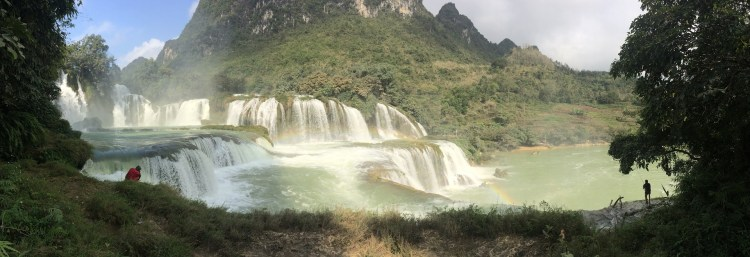 Motorcycle Touring in Vietnam - Moc Chau Waterfall
