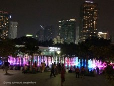 The fountains outside the Petronas towers. Lit at night and choreographed to music.