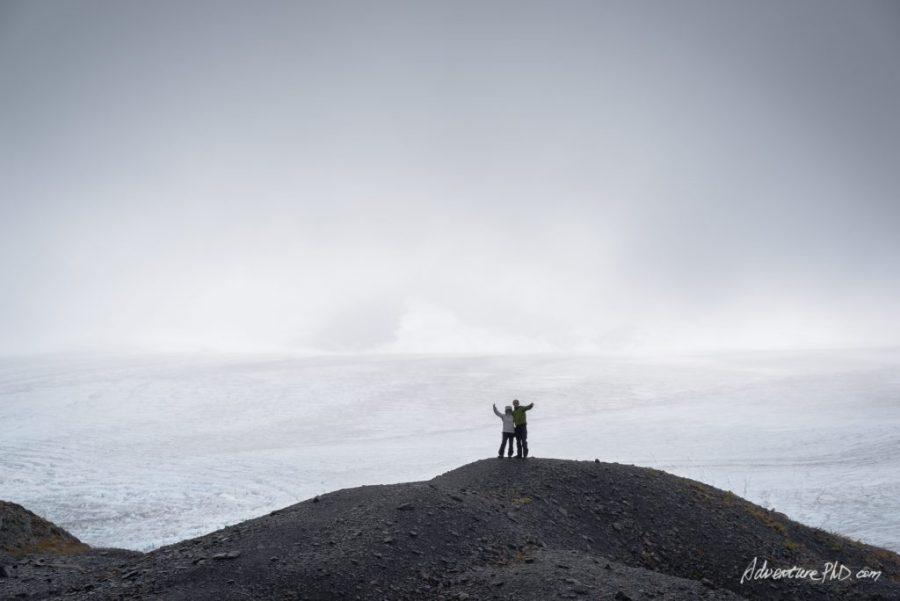 On top of the Harding Icefield trail, Seward, Alaska