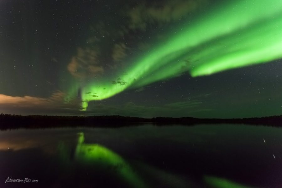 Aurora over Chena Lake, Alaska Photography