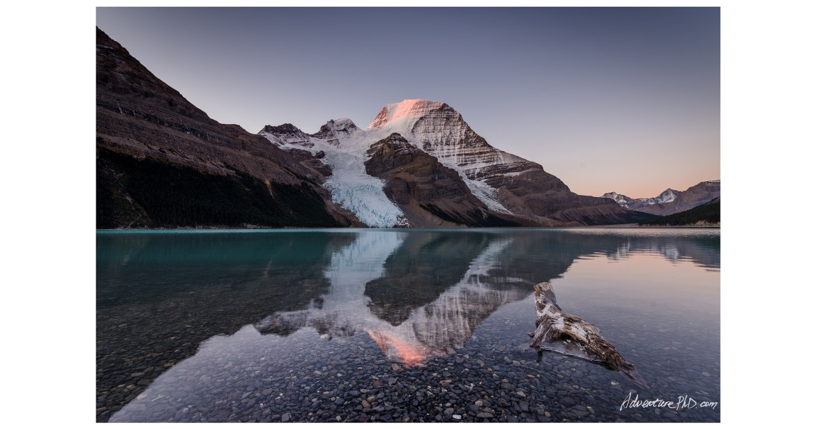 Early morning at Mount. Robson, viewed from the Berg Lake