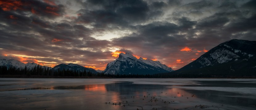 Vermilion Lakes sunrise, Banff National Park
