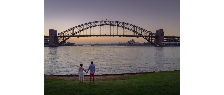 Sydney wedding photography - Blues Point Reserve