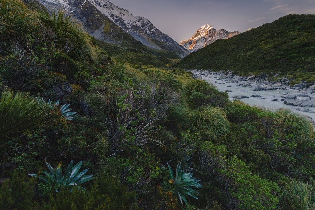 Mount. Cook viewed from the Hooker Valley