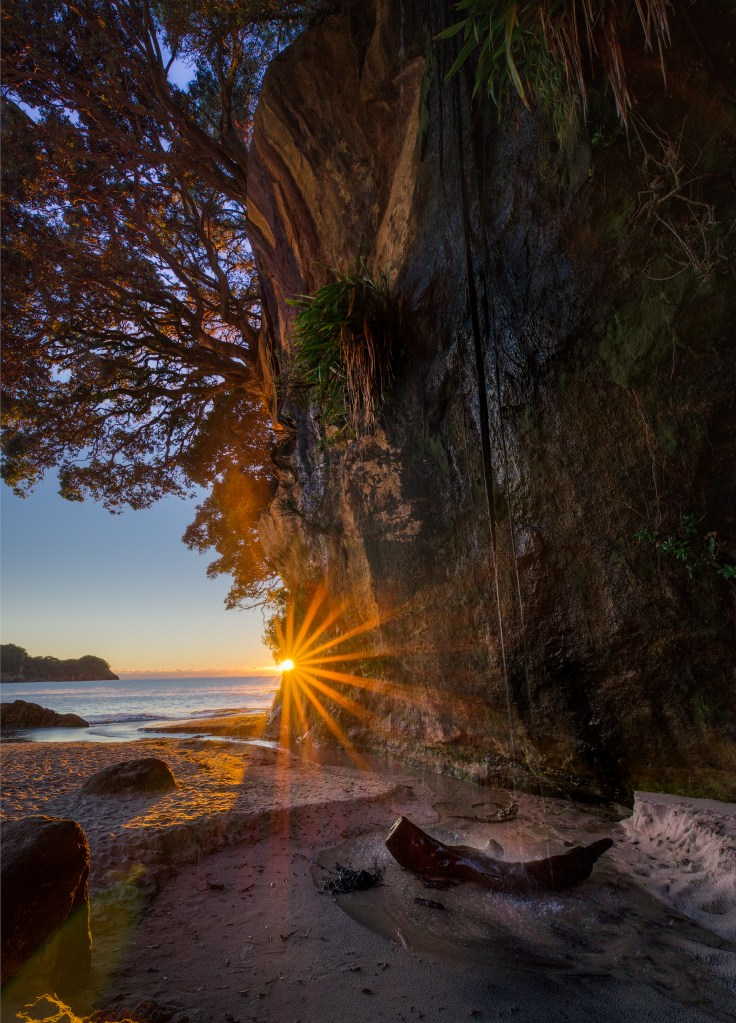 Cathedral Cove Waterfall