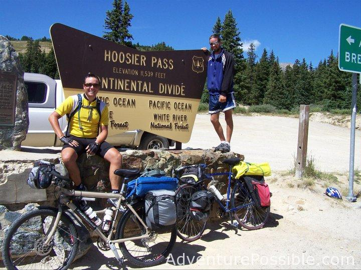 Hoosier pass, highest point on bike across america