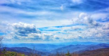 Hiking into the Smoky Mountains on the Appalachian Trail