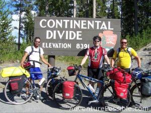 Long distance cycling adventure trip