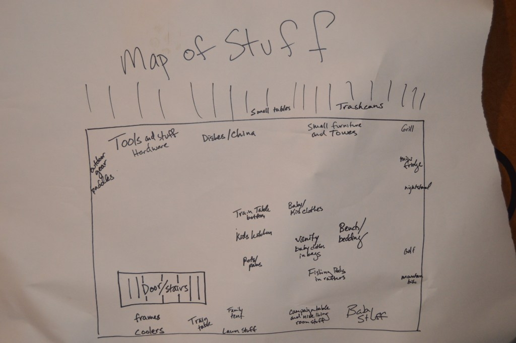 map of stuff in the attic