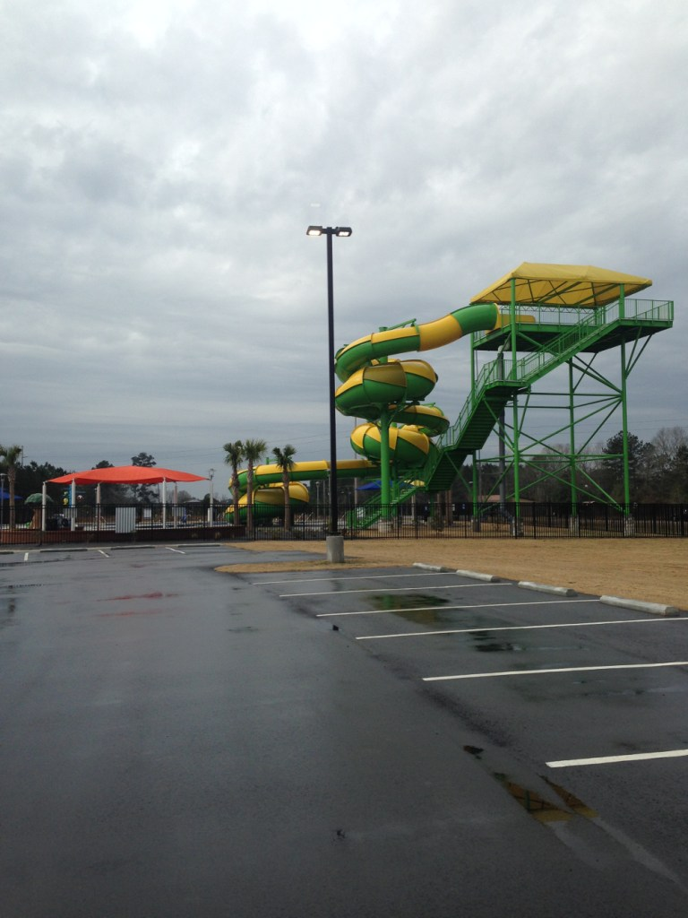 The county water park just outside the Santee State Park