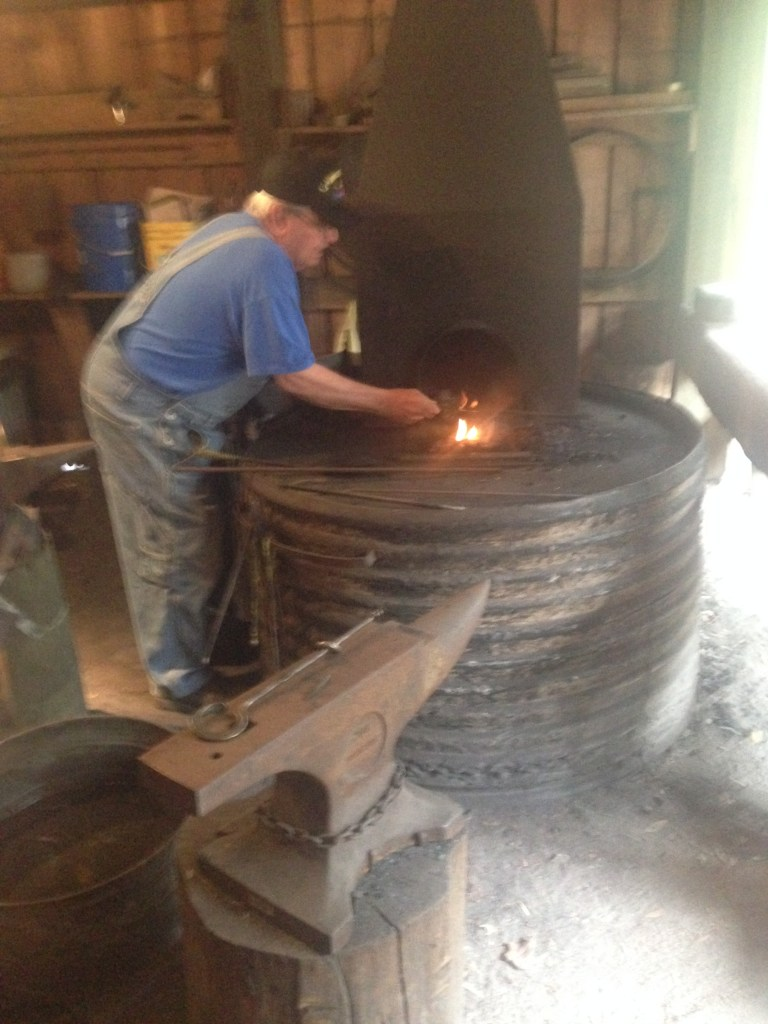 The blacksmith at Stephen Foster State Folk Center