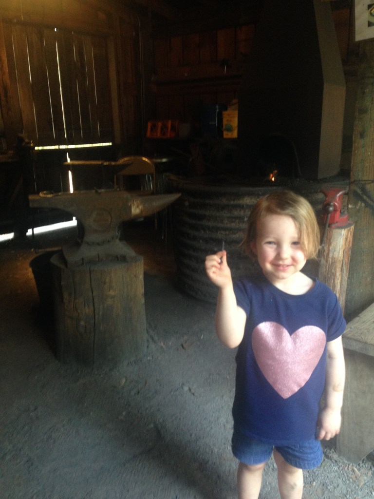 A nail from the blacksmith at Stephen Foster Folk Center