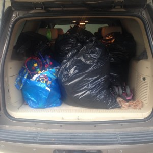 donate items to charity before travel