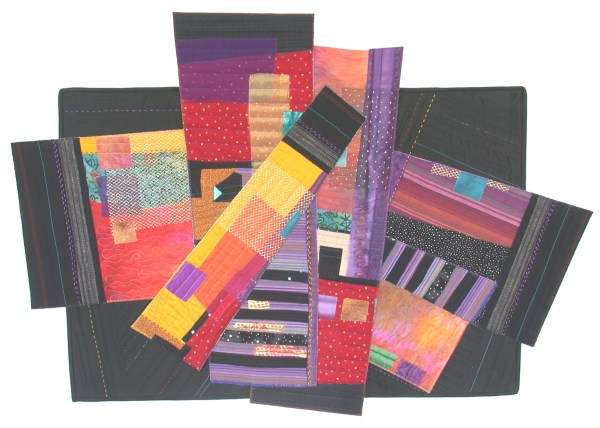 Urban Sprawl, an art quilt by Ellen Lindner. AdventureQuilter.com