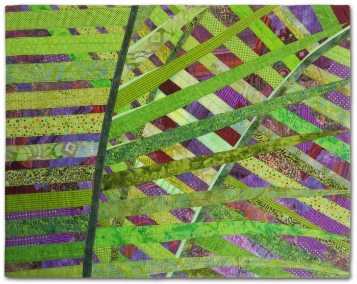 Crisscross, an art quilt by Ellen Lindner. AdventureQuilter.com