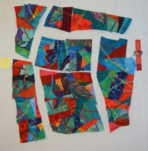 Improvisational piecing with Ellen Lindner. AdventuerQuilter.com