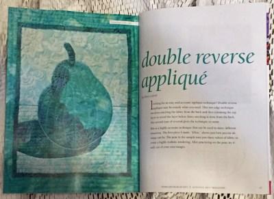 Double Reverse Applique article by Ellen Lindner. AdventureQuilter.com/blog
