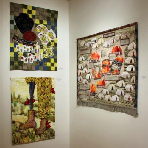 """Stitched: Embracing the Quilt as Fine Art,"" 2017 exhibit. Ellen Lindner, AdventureQuilter.com/blog"
