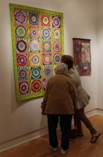 """Stitched: Embracing the Quilt as Fine Art,"" 2017 exhibit. Ellen Lindner, AdventureQuilter.com/blog"