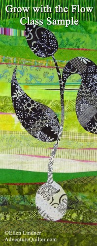 Learn to make this quilt in an online class with Ellen Lindner. AdventureQuilter.com