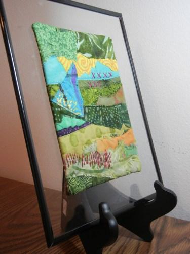 Framing small pieces. Ellen Lindner, AdventureQuilter.com