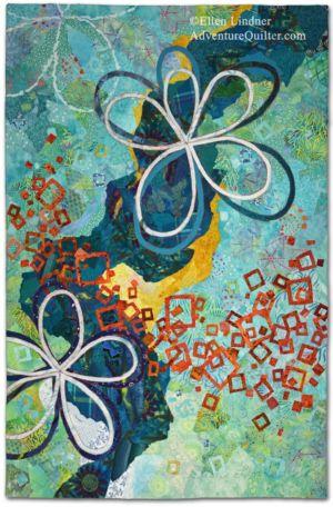 Daydream, an art quilt by Ellen Lindner. AdventureQuilter.com