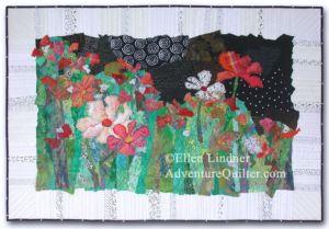 Cosmo Boogie, an art quilt by Ellen Lindner. AdventureQuilter.com
