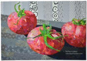Vine Ripened, an art quilt by Ellen Lindner. AdventureQuilter.com