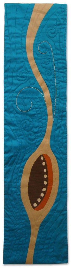 Sketching with Silk #3, an art quilt by Ellen Lindner. AdventureQuilter.com