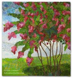 Summer in the South, an art quilt by Ellen Lindner. AdventureQuilter.com
