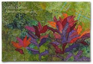 Ti Party, an art quilt by Ellen Lindner. AdventureQuilter.com