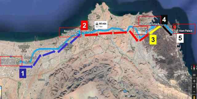 One Day Travel Itinerary to Muscat, Oman - Adventurer Family