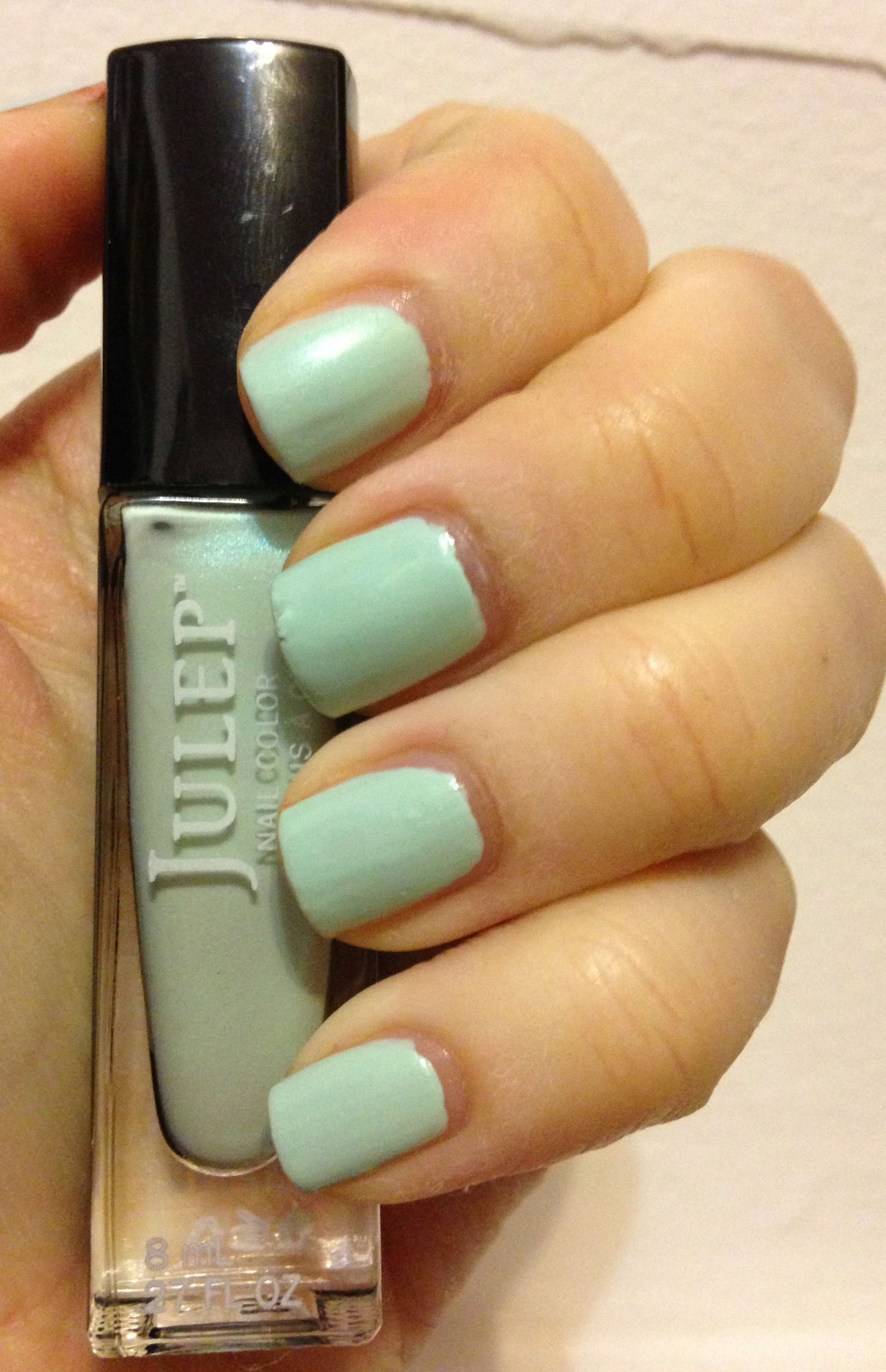 Last but not least is Shenae, a shimmery mint green polish. Shenae is opaque in two coats and the formula is great! I had no problems whatsoever with ...
