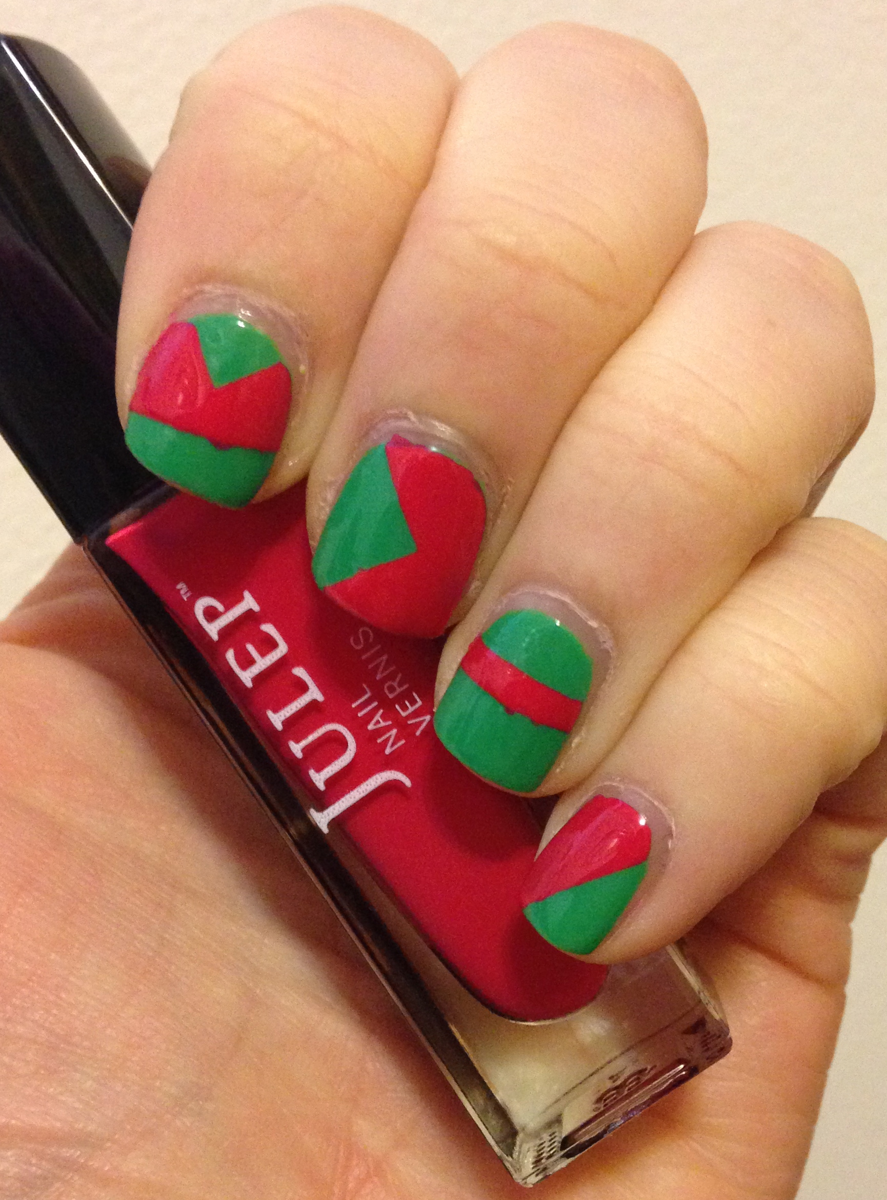 Geometric Rose Garden Nail Art Featuring Nail Stickers From Born