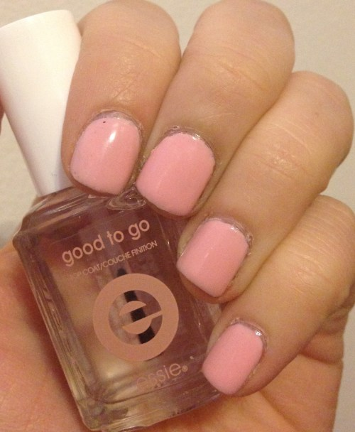 Essie Good to Go over Zoya Dot