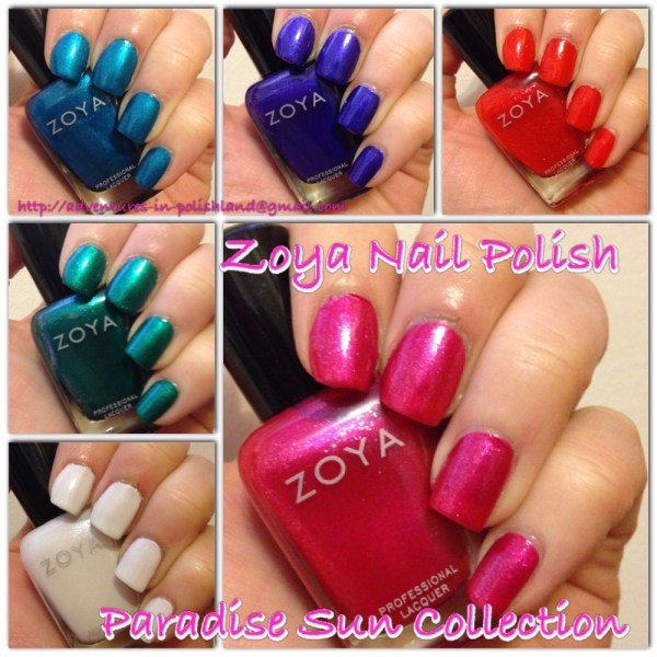 Zoya Nail Polish Paradise Sun Collection for Summer 2015
