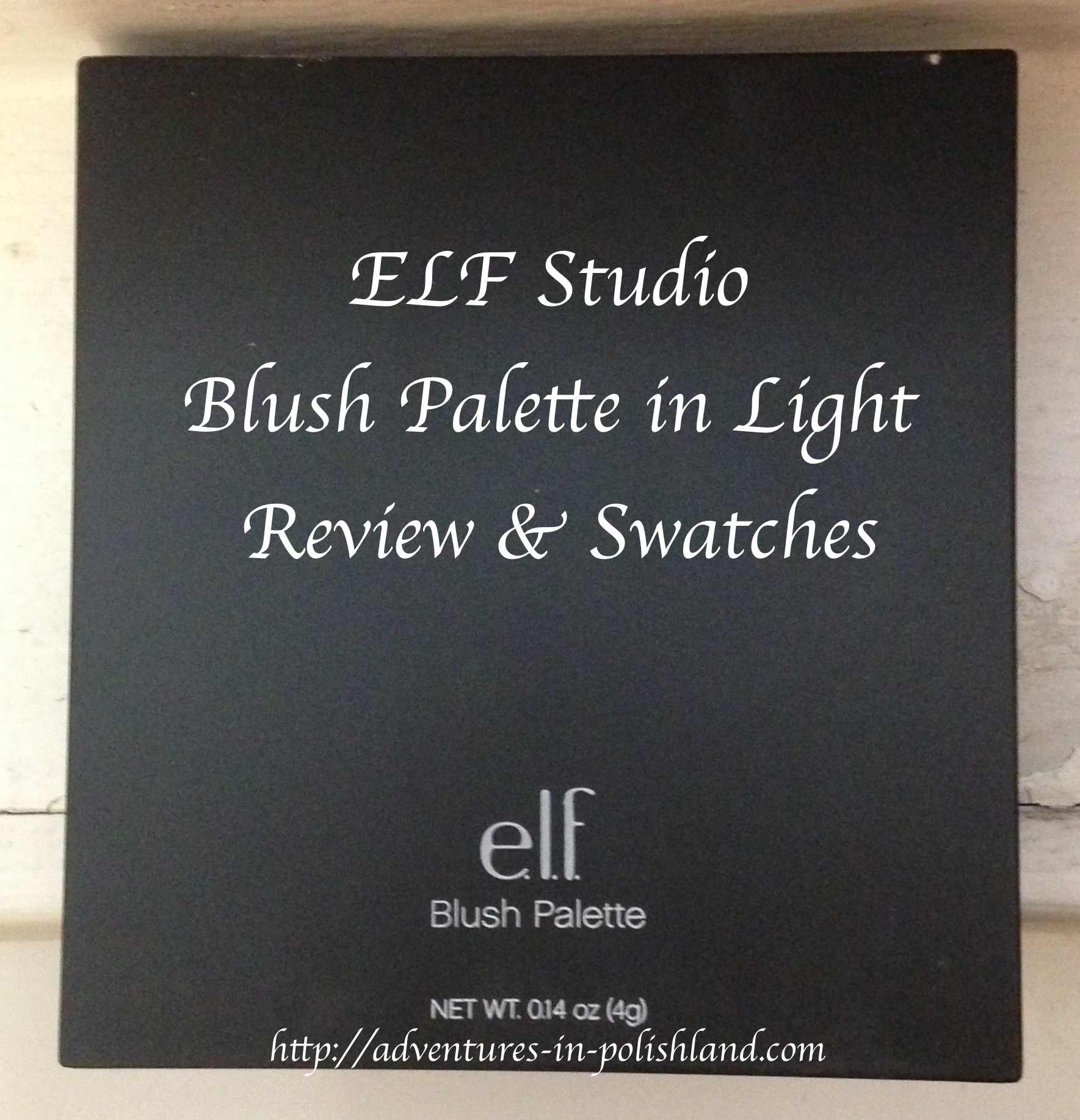 ELF Studio Blush Palette in Light   Review & Swatches – Adventures ...
