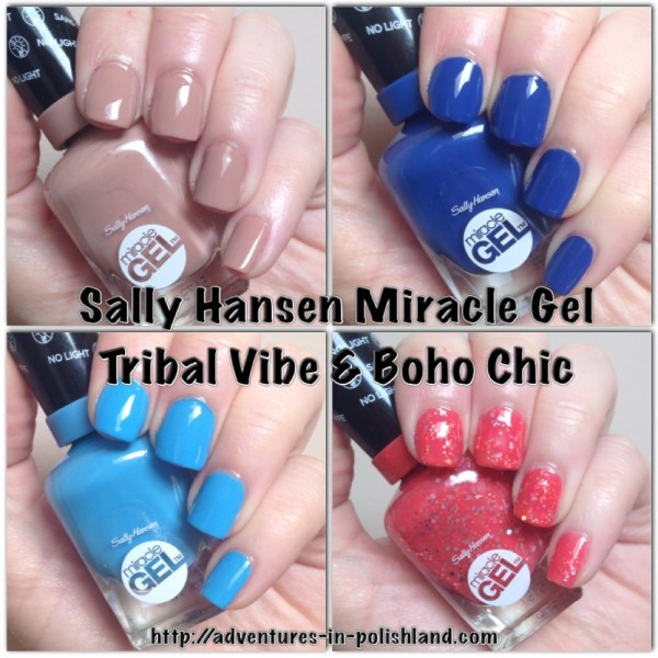 Sally Hansen Miracle Gel | Tribal Vibe & Boho Chic Collections