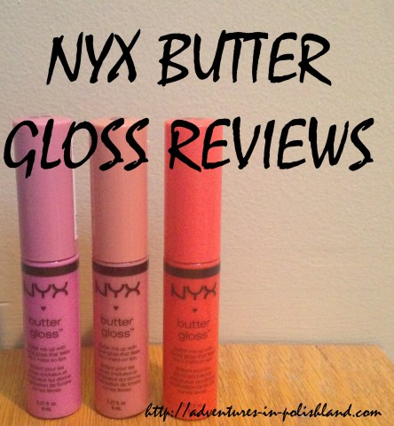NYX Butter Gloss Reviews | Merengue, Créme Brulee, and Peach Cobbler