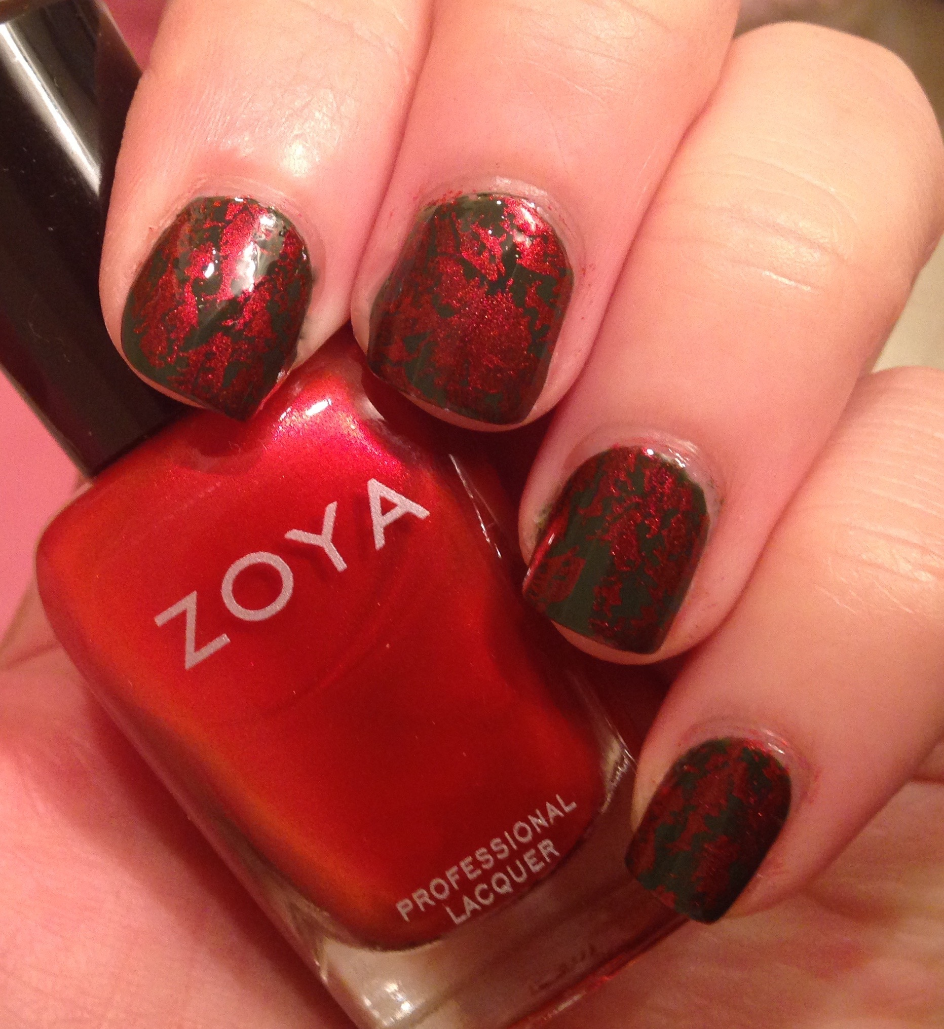 Simple Fall Nail Art Featuring Zoya Nail Polish U0026 Messy Mansion  Stamping Plate .