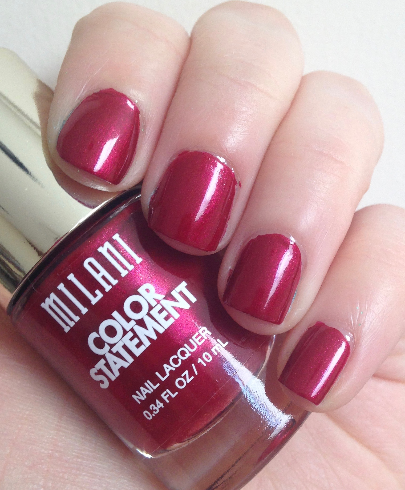 Manicure March | Milani Color Statement Nail Lacquer in Ruby Stone ...