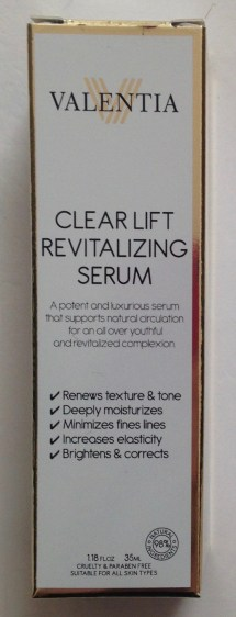 Valentina Clear Lift Revitalizing Serum Review