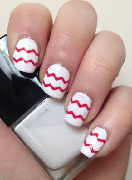 Chevron Nail Art featuring Striping Tape from Born Pretty Store