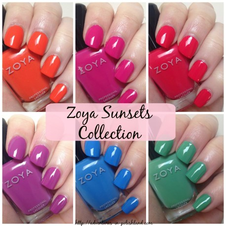 Zoya Sunsets Collection for Summer 2016