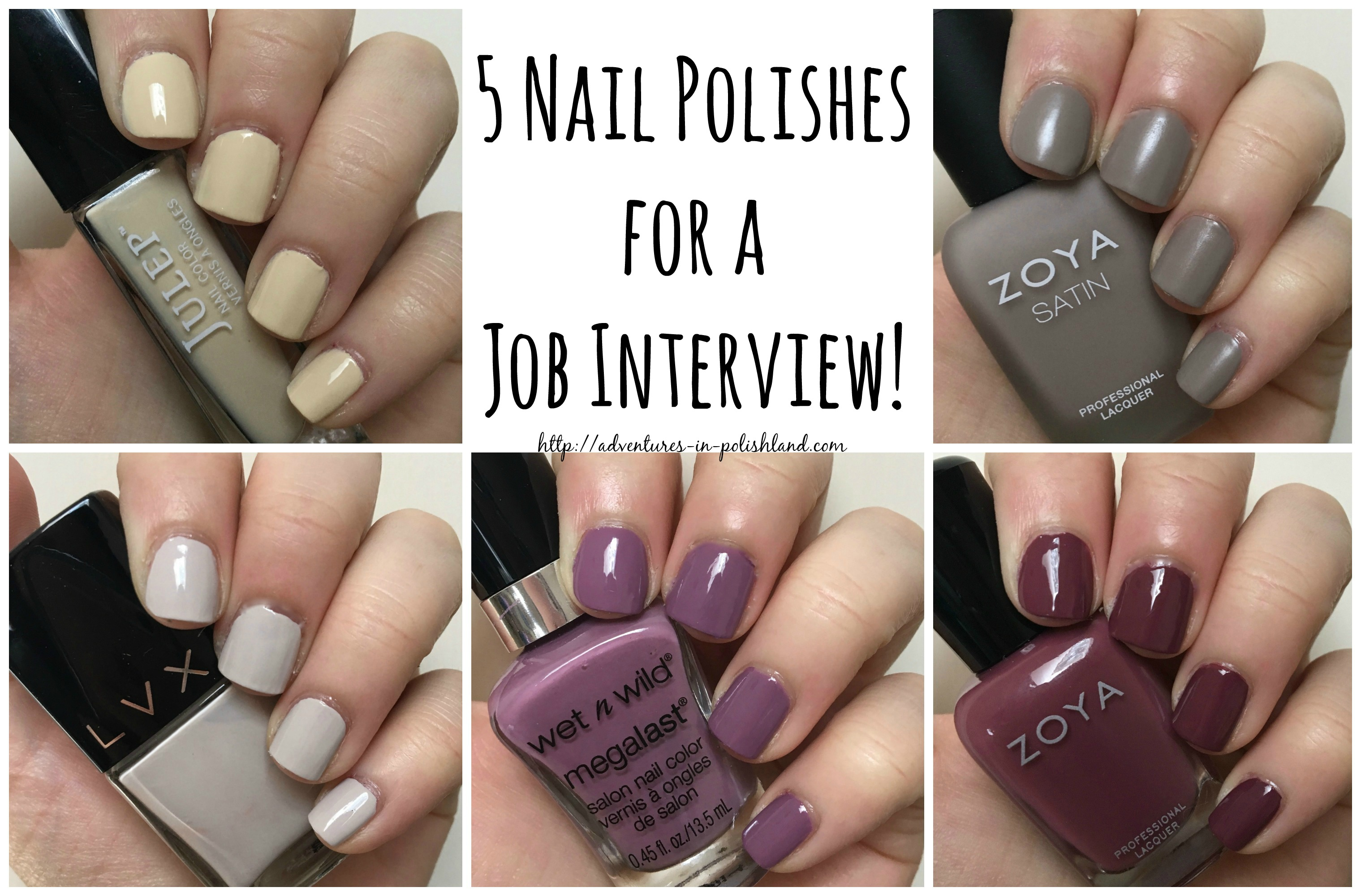 5 Nail Polishes for a Job Interview – Adventures in Polishland